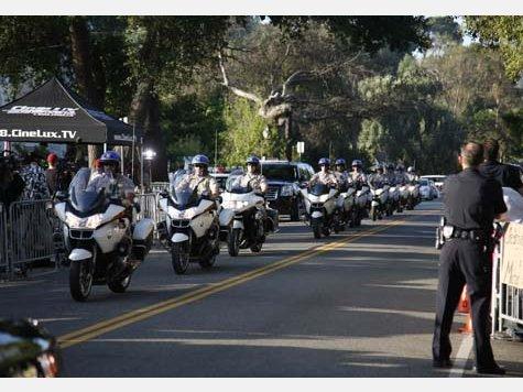 Kolonne zur Beerdigung von Michael Jackson, Quelle: