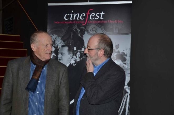 Wolfgang Kohlhaase und Hans-Michael Bock. Foto: Swenja Schiemann. Mit freundlicher Genehmigung von CineGraph