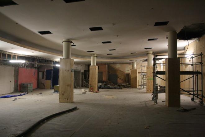 Foyer des Zoo Palastes während der Sanierung im Februar 2013, Foto: FRAGMENT FILM/ Dennis Basaldella.